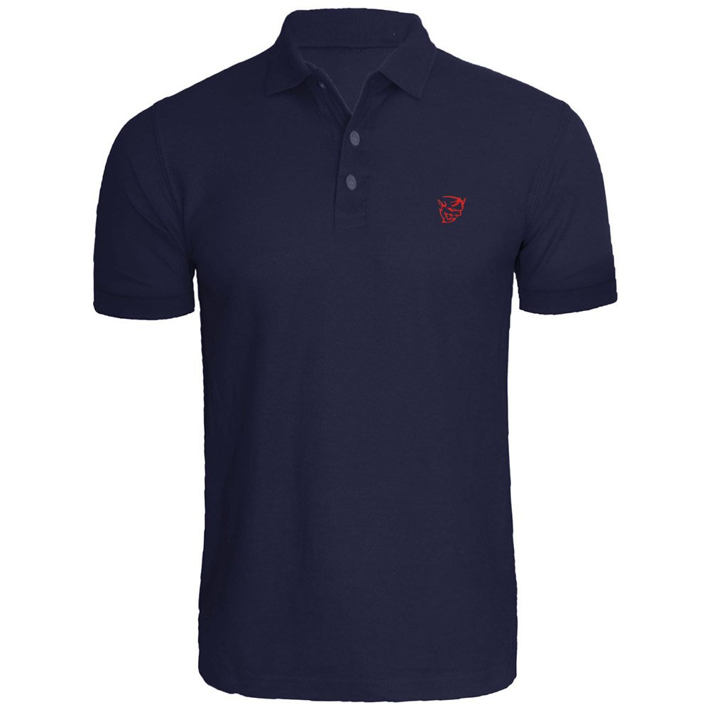 Mens Demon Logo Embroidery Embroidered Polo Shirts