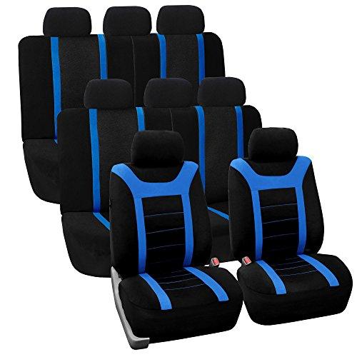 FH GROUP FH-FB070128 Three Row Set Sports Fabric Car Seat Co