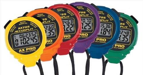 Accusplit AX725 AX Pro Memory Series Stopwatches ''Rainbow 6-Pack'' by ACCUSPLIT