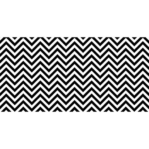 Fadeless PAC57715 Bulletin Board Art Paper, Chic Chevron-Black & White, 48