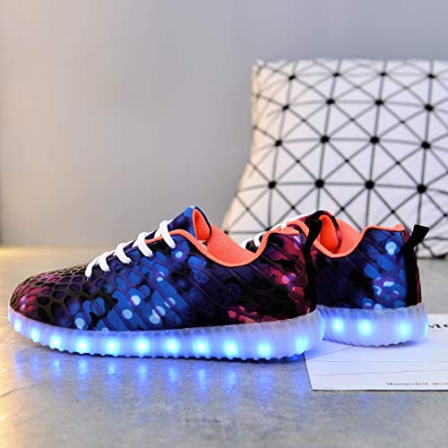 Ali Sneaker Leuchtend Unisex Sport Damen USB Violett tone 7 Schuhe Farbe Herren Aufladen LED LED für rot Schuhe LED Erwachsene Sportschuhe Turnschuhe rwr8xaSO