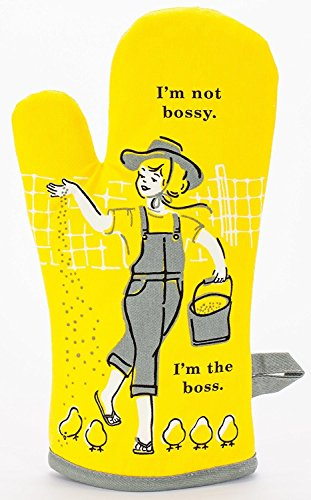 Blue Bossy Oven Mitt Yellow product image