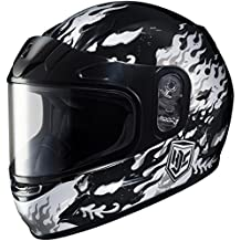 HJC 1119-2905-54 CL-Y Flame Face Snowmobile Youth Helmet , Distinct Name: MC-5, Gender: Boys, Helmet Category: Snow, Helmet Type: Full-face Helmets, Primary Color: Black, Size: Sm, Size Segment: Youth