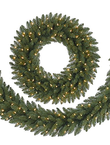 Balsam Hill Berkshire Mountain Fir Prelit Artificial Christmas Wreath, 48 Inches, Clear Lights by Balsam Hill (Image #2)