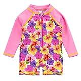 SANSI Kids Girl Swimwear UPF 30+ UV One Piece Sunsuit Rash Guard