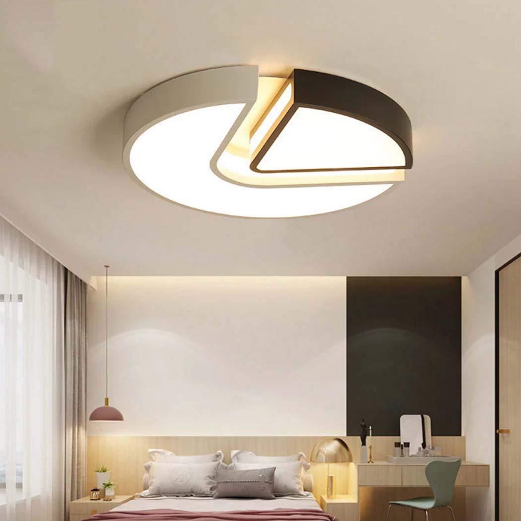 シンプルなLEDシーリングライト調光対応の現代埋め込まれたLEDの天井灯寝室学習、24w / 37w(直径40cm / 50cm),steplessdimming,50cm   B07SG5VLYG