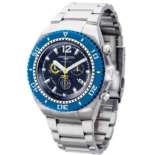 Jorg Gray JG9700-24 Round Watch with Solid Stainless Steel Bracelet with Safety Clasp