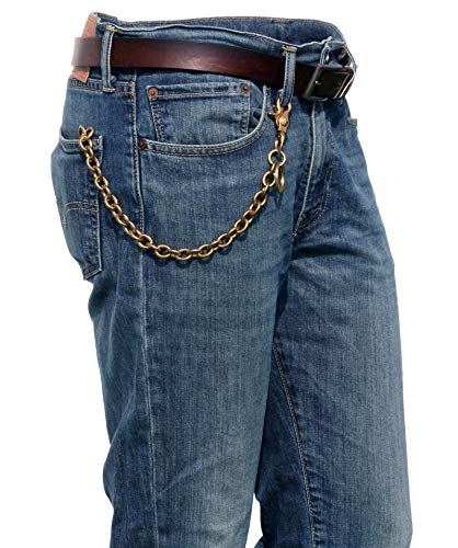 Ruth&Boaz Solid Brass Ring Chain Keychain Wallet Chain (13