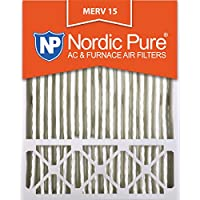 Nordic Pure 20x25x5 (4-3/8 Actual Depth) Lennox X6675 Replacement MERV 15 Pleated AC Furnace Air Filter, Box of 1