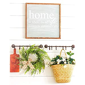 Tiny Land 22 Inches Spring Wreath for Front Door with Knotted Bow, Handcrafted Wicker Rattan Loop Frame | Faux Home Decorative Display | Rustic, Farmhouse Decor 3