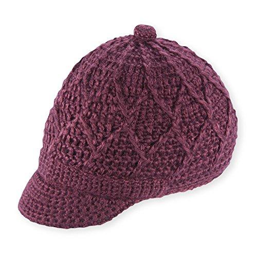 Pistil Women's Jax Knit Brimmed Beanie, Plum