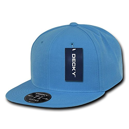 DECKY Retro Fitted Cap, Sky Blue, 7 3/8