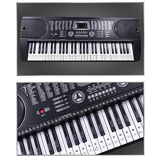 Pegatinas para teclado de piano, 37/49/ 54/61/88 teclas de PVC transparente extraíble piano y teclado para piano principiante, negro: Amazon.es: ...