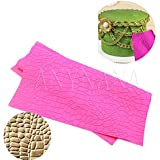 Anyana sugar edible Crocodile Alligator lace cake silicone Embossing Mat Texture fondant impression lace mat decorating mold gum paste cupcake topper icing candy imprint baking moulds craft