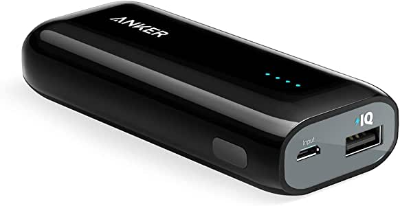 Anker Astro E1 5200mAh Candy bar-Sized Ultra Compact Portable Charger (External Battery Power Bank) with High-Speed Charging PowerIQ Technology