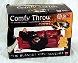 The Northwest Company NCAA Missouri Tigers Comfy Throw Blanket with Sleeves, Smoke Design