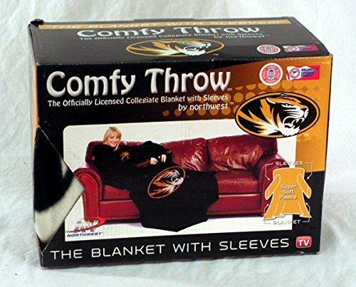 NCAA Missouri Tigers Comfy Throw Blanket with Sleeves, Smoke ()