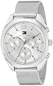 Tommy Hilfiger Women's 1781628 Sophisticated Sport Silver-Tone Stainless Steel Watch
