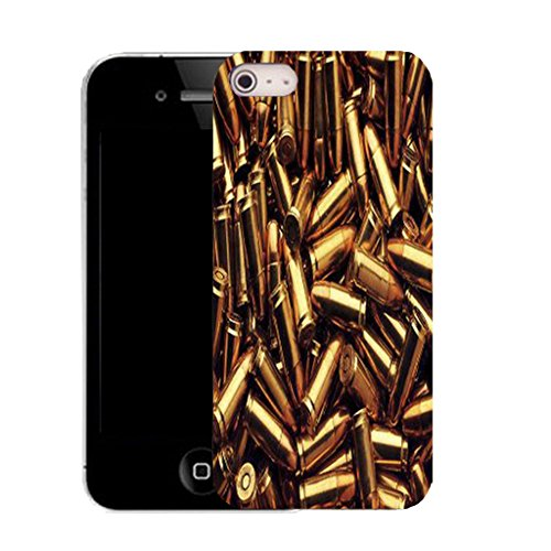 Mobile Case Mate IPhone 4 clip on Silicone Coque couverture case cover Pare-chocs + STYLET - bullet pattern (SILICON)