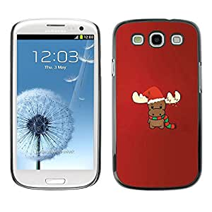 Planetar? ( Reindeer Christmas Winter Red Cute ) SAMSUNG Galaxy S3 III / i9300 / i747 Hard Printing Protective Cover Protector Sleeve Case