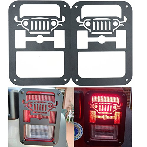 XYZCTEM 2 X Tail Lamp Tail Light Cover Trim Guards Protector for Jeep Wrangler Contour Tail Light Covers