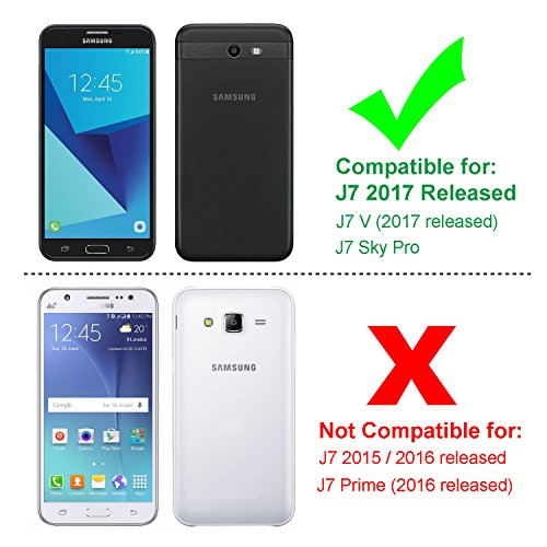 Galaxy J7 V Case, Galaxy J7 Sky Pro Case, Galaxy J7 Perx Case, Galaxy Halo Case, SYONER [Shockproof] Defender Phone Case Cover for Samsung Galaxy J7V/J7 2017 Released [Green]
