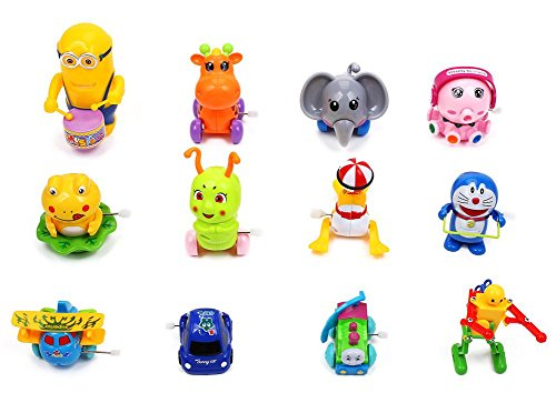 Jeyon Toy 12 Pieces Assorted Wind-up Toys for Kids Party Favors, Best Christmas gift (1 Dozen)