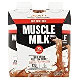 Muscle Milk Genuine Protein Shake, Chocolate, 20g Protein, 11 FL OZ, (Pack Of 48)
