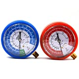 Nikauto 2pcs/Lot Car Air Conditioning High and Low Pressure Gauge Refrigerant R134A R12