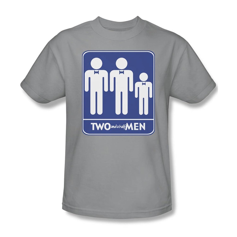 Two And A Half Men - Mens Men Symbols T-Shirt In Silver