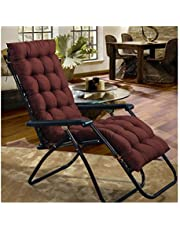 Rocking Chair Cushion with Ties,Nap Seat Cover Mat Thicker Desk Chair Comfy Garden Furniture Portable Garden Patio Thick Padded Bed Recliner Relaxer for Travel Holiday Indoor Outdoor,160 * 48cm