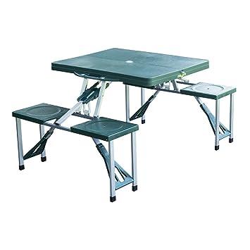 Set da campeggio pieghevole tavolo campeggio tavolo da giardino tavolo picnic tavolo 4 x sedia