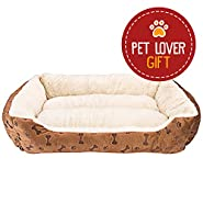 Rectangle Pet Bed with Dog Paw Printing
