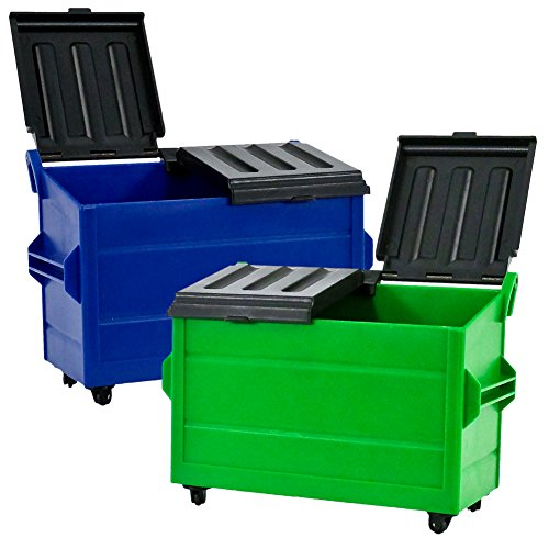 2 Pack Wwe Toy - Set of 2 Dumpster's for WWE Wrestling Action Figures: Blue & Green