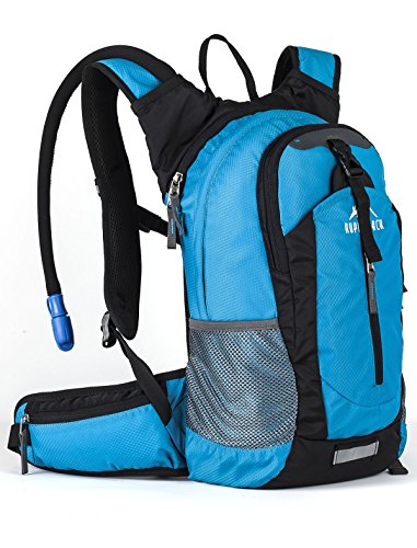 Hydration Daypacks - RUPUMPACK Insulated Hydration Backpack Pack with 2.5L BPA Free Bladder - Keeps Liquid Cool up to 4 Hours, Lightweight Daypack Water Backpack for Hiking Running Cycling Camping, 18L