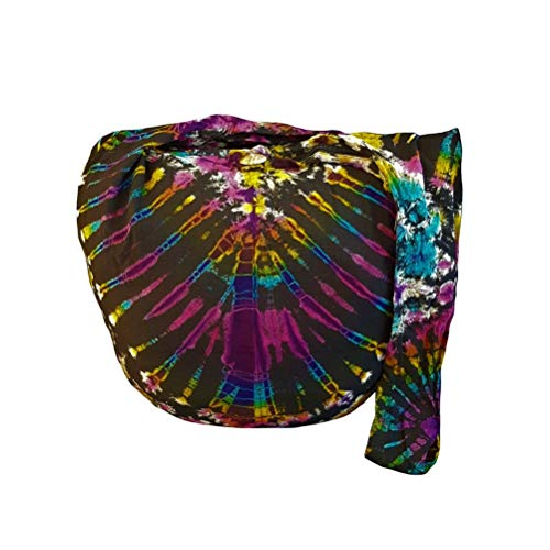 BTP! Tie Dye Sling Crossbody Shoulder Bag Purse Hippie Hobo Cotton Bohemian Colorful Firework (Fish-bone VC9)