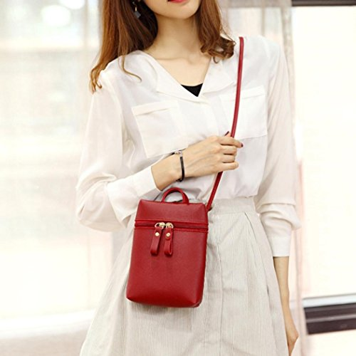 Inkach Wine Body Bags Small Chic Mini Cross Mini Square Bag Coin Handbags Purses Shoulder Girls by Messenger Womens A1TqwrA