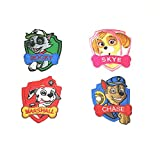 Paw Patrol Characters 4-Pack Assorted Embroidered Iron/Sew-on Kids Cartoon Theme Logo Patch/Applique By Superheroes Brand
