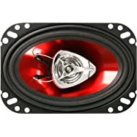 BOSS Audio CH4620 Bocinas para autos: 200 vatios de potencia por par y 100 vatios cada una, 4 x 6 pulgadas, rango completo, 2 vías, vendido en pares, fácil montaje