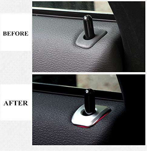 For BMW X5 F15 2014 2015 Matt Interior 4 Door Lock Pins Decorative Cover Trim