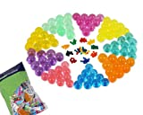 crystal monsters - Bundle Monster New Magic Water Crystal Multi Color Mud Potting Soil Beads Pack - 100 Bags