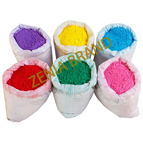 - HOLI Colors 12 Lbs 6 colors (2lbs each color) RED, YELLOW, PINK, BLUE, GREEN, AND PURPLE SHIPS FROM NEW YORK