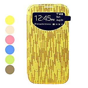 ZXC Gold stripes Screen Visible PU Leather Full Body Case for Samsung Galaxy S4 I9500 , White
