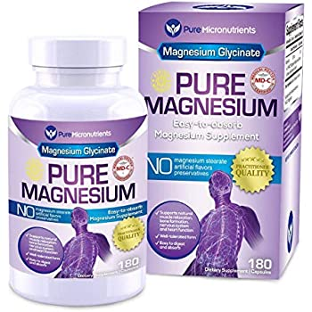 Amazon.com: Magnesio glycinate 200 mg | 100% puro, non ...