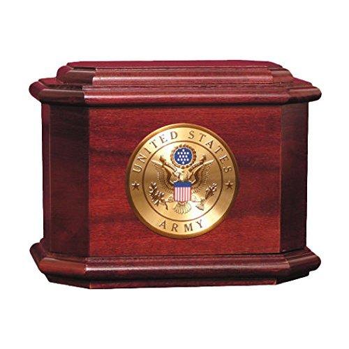 Rosewood Diplomat Military Urn
