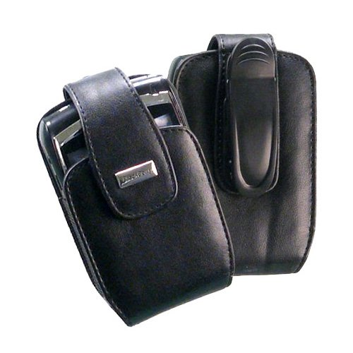 Original OEM RIM Blackberry Curve 8300, 8310, 8320, 8330 Genuine Leather Vertical Case (8300 Genuine Leather Case)