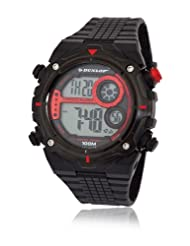 Dunlop Enchanter Men's Quartz Watch with Black Dial Digital Display and Black Plastic Strap DUN-228-G07