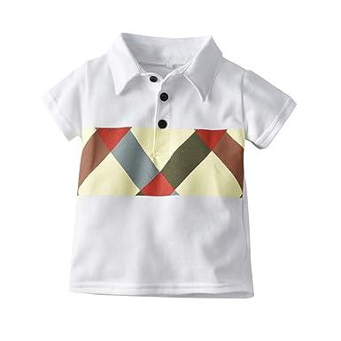 Amuse-MIUMIU Camiseta Polo de Manga Corta para bebé y niño ...