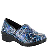Easy Works Women's Lyndee Health Care Professional Shoe, Blue Pop Patent, 8 M US