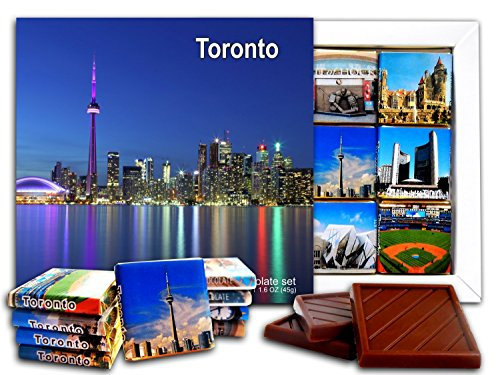 DA CHOCOLATE Candy Souvenir TORONTO Chocolate Gift Set 5x5in 1 box (Panoramic) (Best Gifts From Canada)